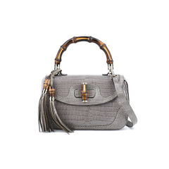 Gucci new bamboo crocodile shoulder bag 2?1514370530