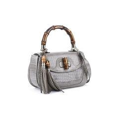 Gucci new bamboo crocodile shoulder bag 5?1514370576