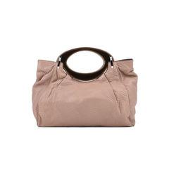 Resin Handle Stitched Handbag