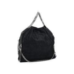 Stella mccartney falabella shaggy foldover tote black 2?1514373248