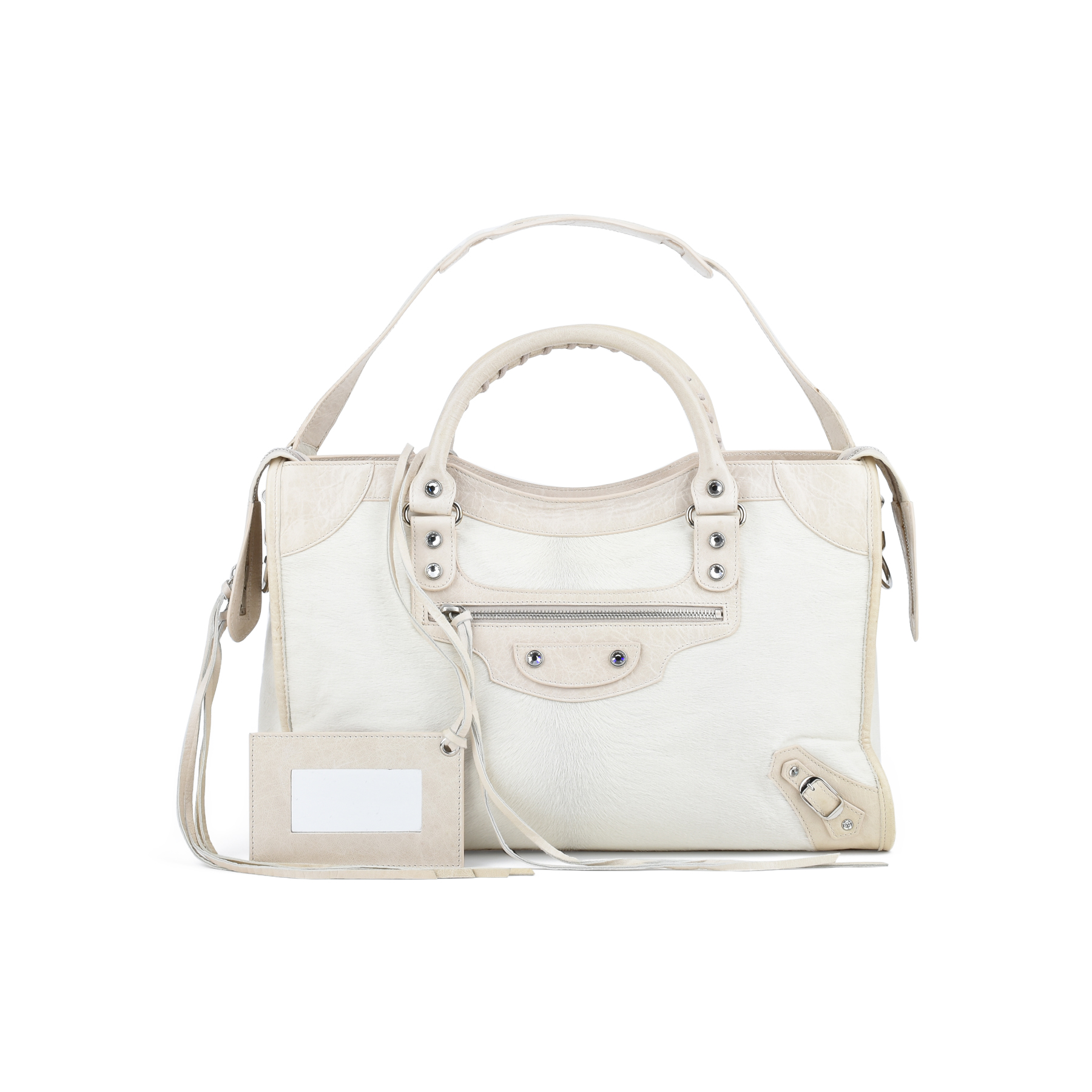 883693620be Authentic Second Hand Balenciaga Limited Edition Bianco City Bag  (PSS-193-00123) - THE FIFTH COLLECTION