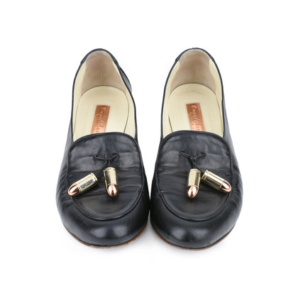 Authentic Second Hand Rupert Sanderson Missouri Leather Loafers with Bullet Tassels (PSS-420-00044)