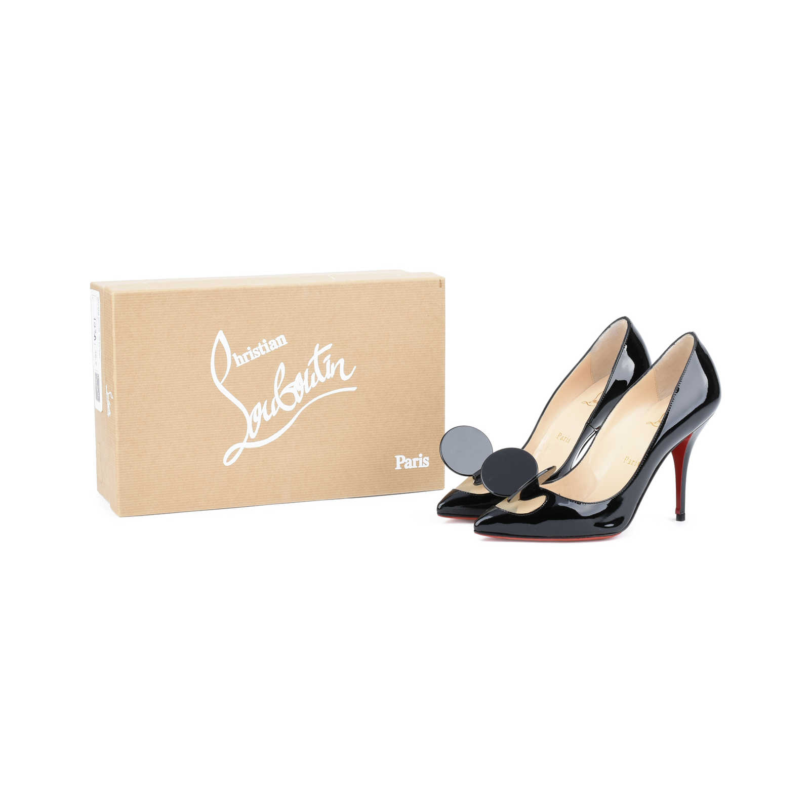 6be335020f3d ... Authentic Second Hand Christian Louboutin Madame Mouse Court Shoes  (PSS-420-00048)