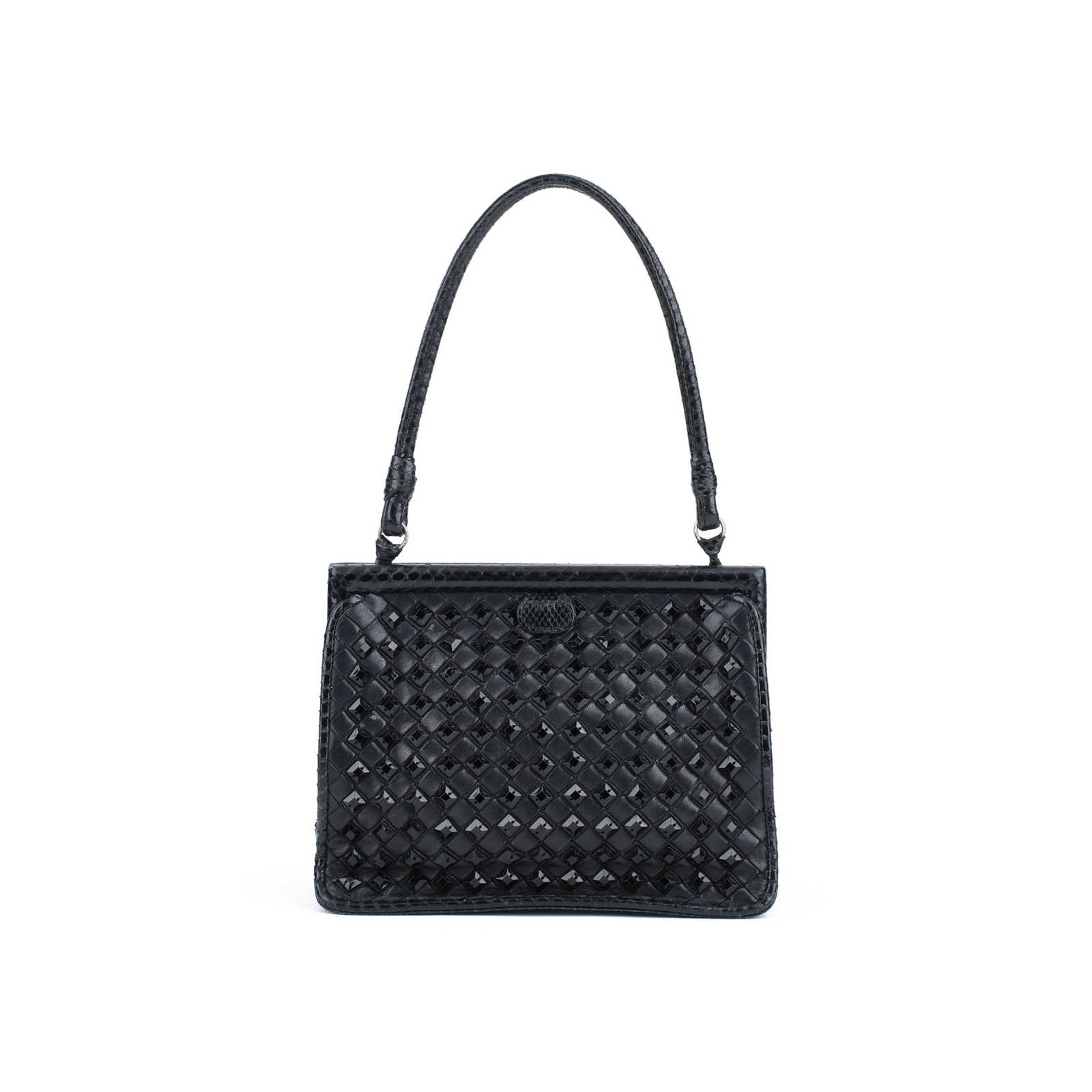 62e7d316ce Authentic Second Hand Bottega Veneta Intrecciato Evening Bag  (PSS-420-00038) ...