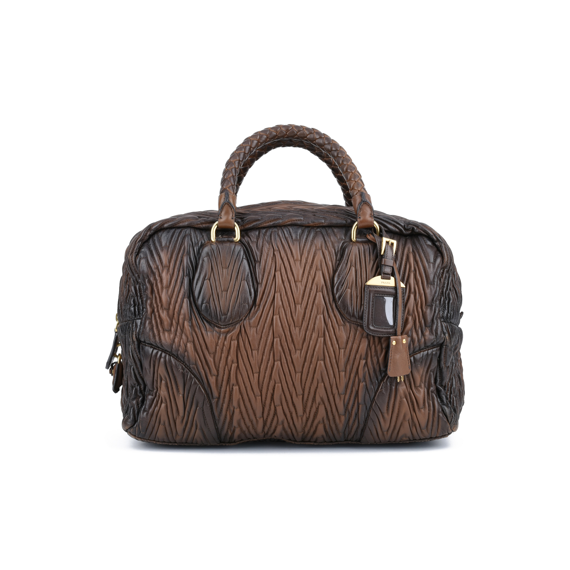 497b1170306a Authentic Second Hand Prada Nappa Chevron Handle Bag (PSS-420-00036 ...