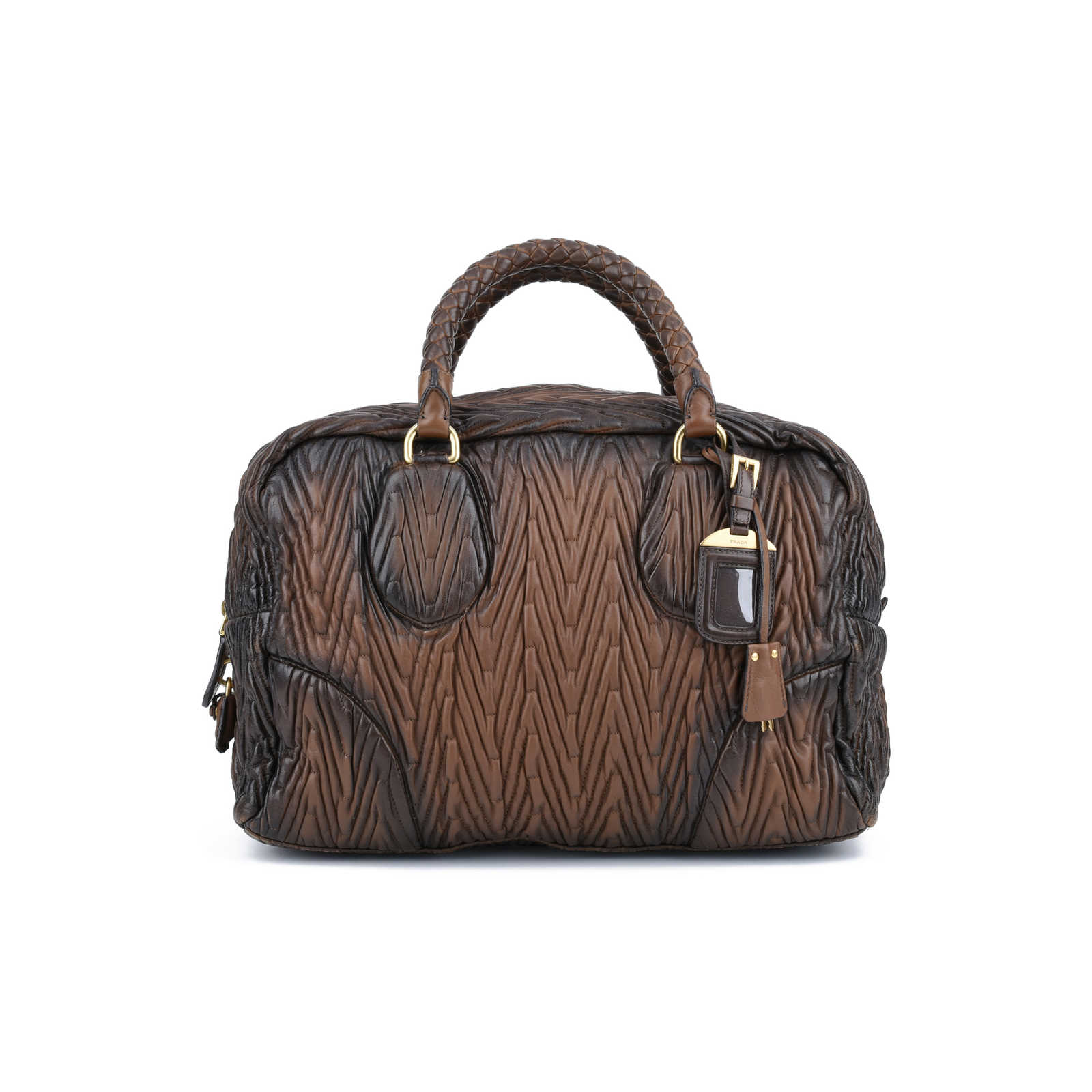 ... low price authentic pre owned prada nappa chevron handle bag pss 420  00036 3759e fe34b d511f59e8da6b