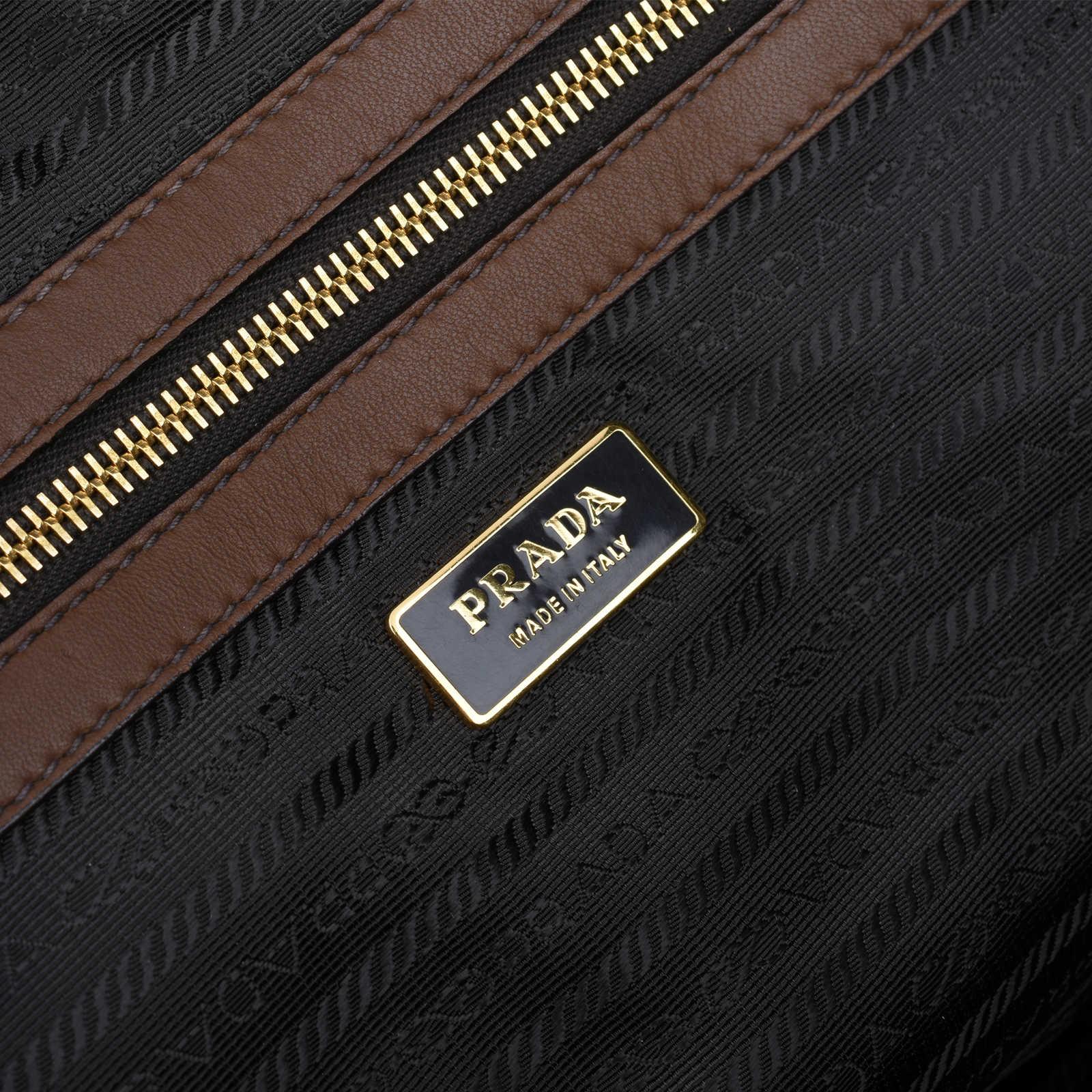 f1b563b730dd ... Authentic Second Hand Prada Nappa Chevron Handle Bag (PSS-420-00036) -