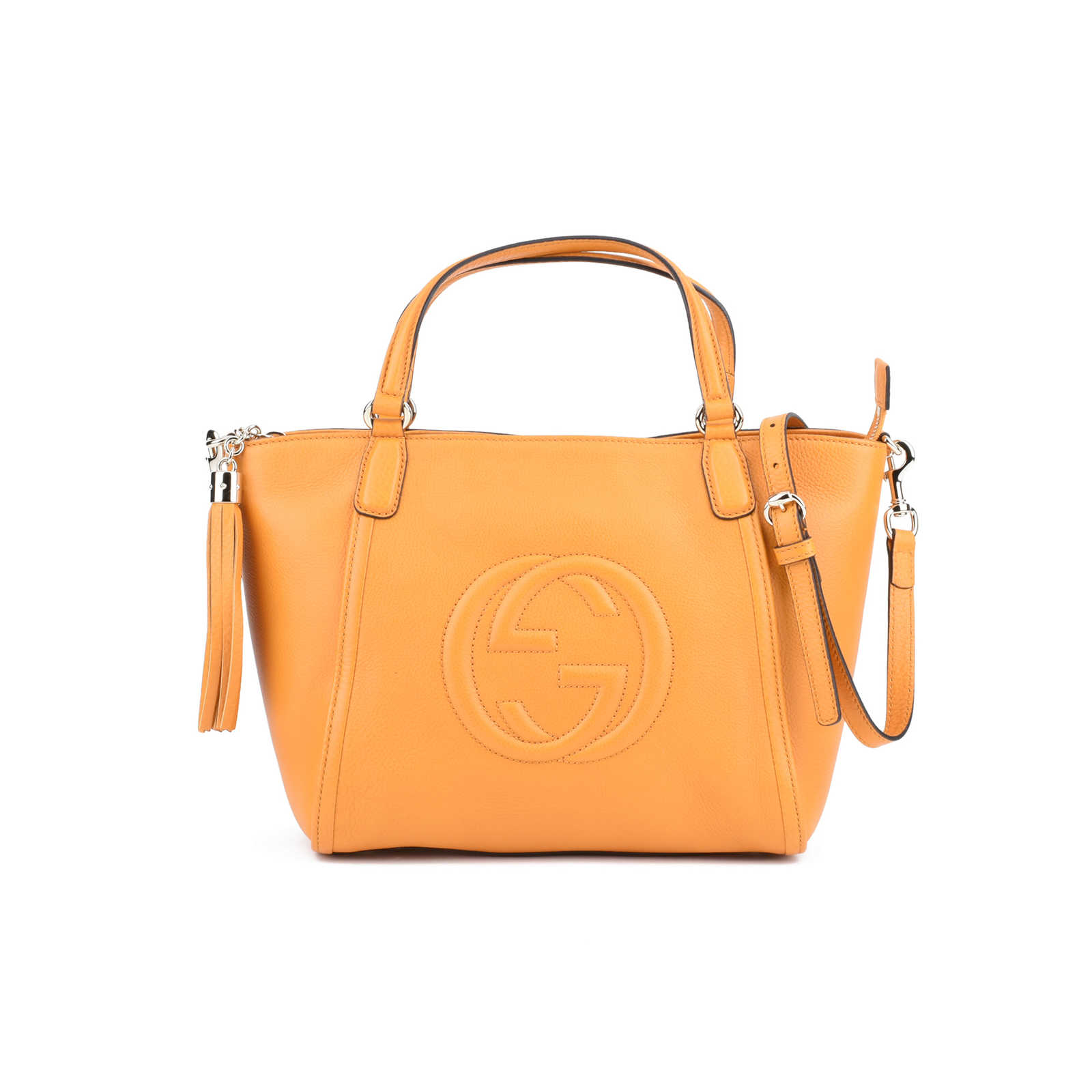 ec34adf24f2b Authentic Second Hand Gucci Soho Leather Top Handle Bag (PSS-420-00001) ...