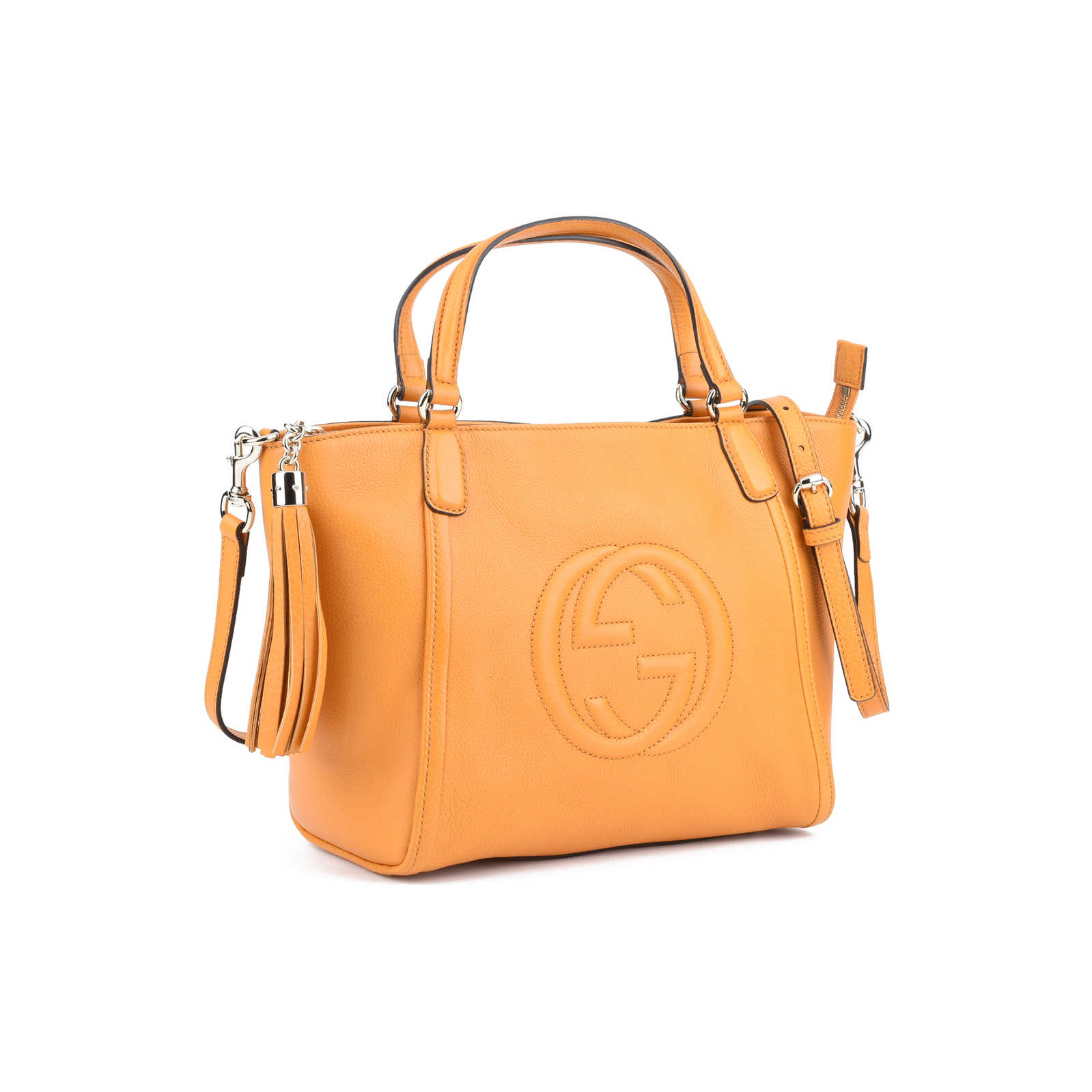 be7687ab7 ... Authentic Second Hand Gucci Soho Leather Top Handle Bag (PSS-420-00001)  ...