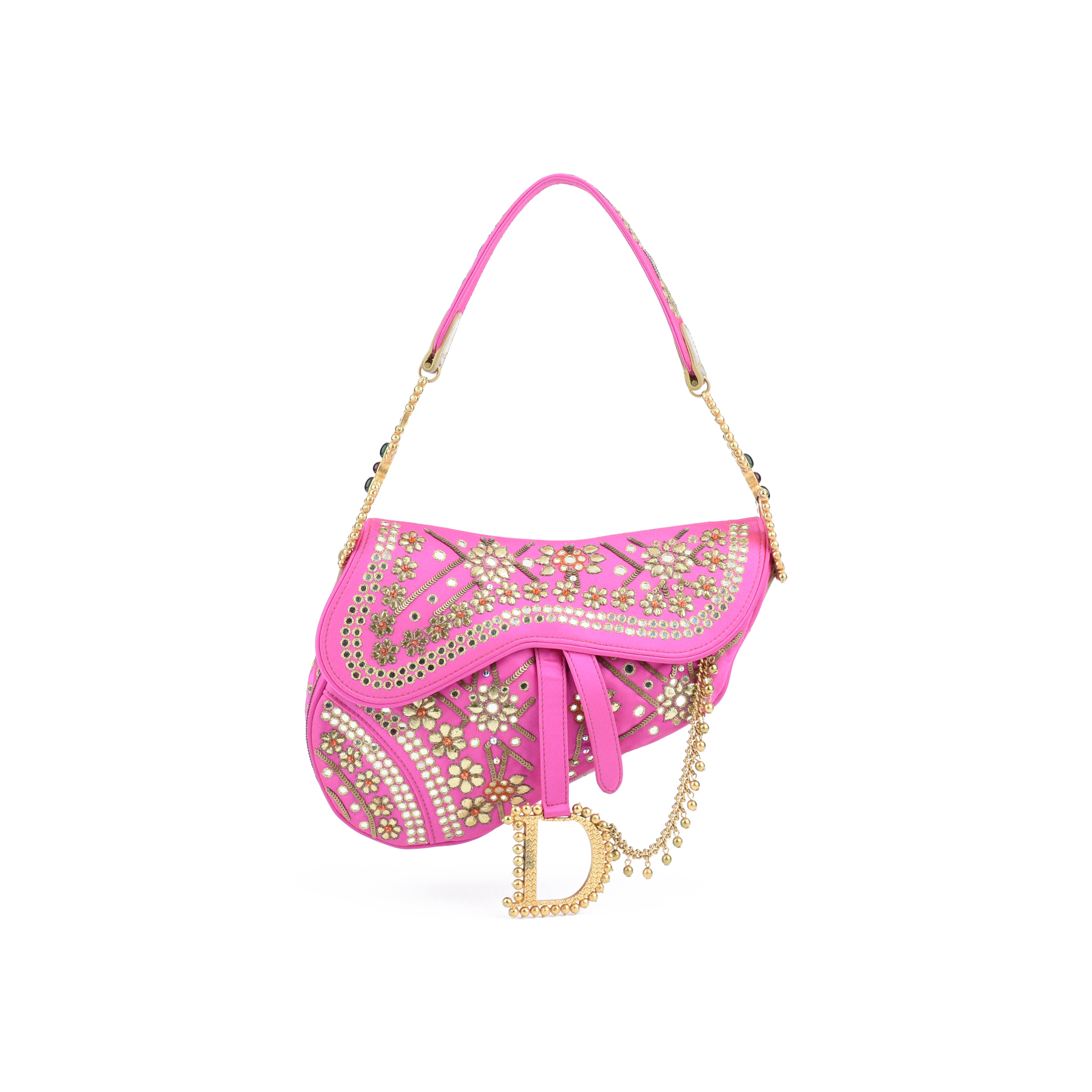 6a8f2612df4a Authentic Second Hand Christian Dior India Saddle Bag (PSS-420-00017 ...
