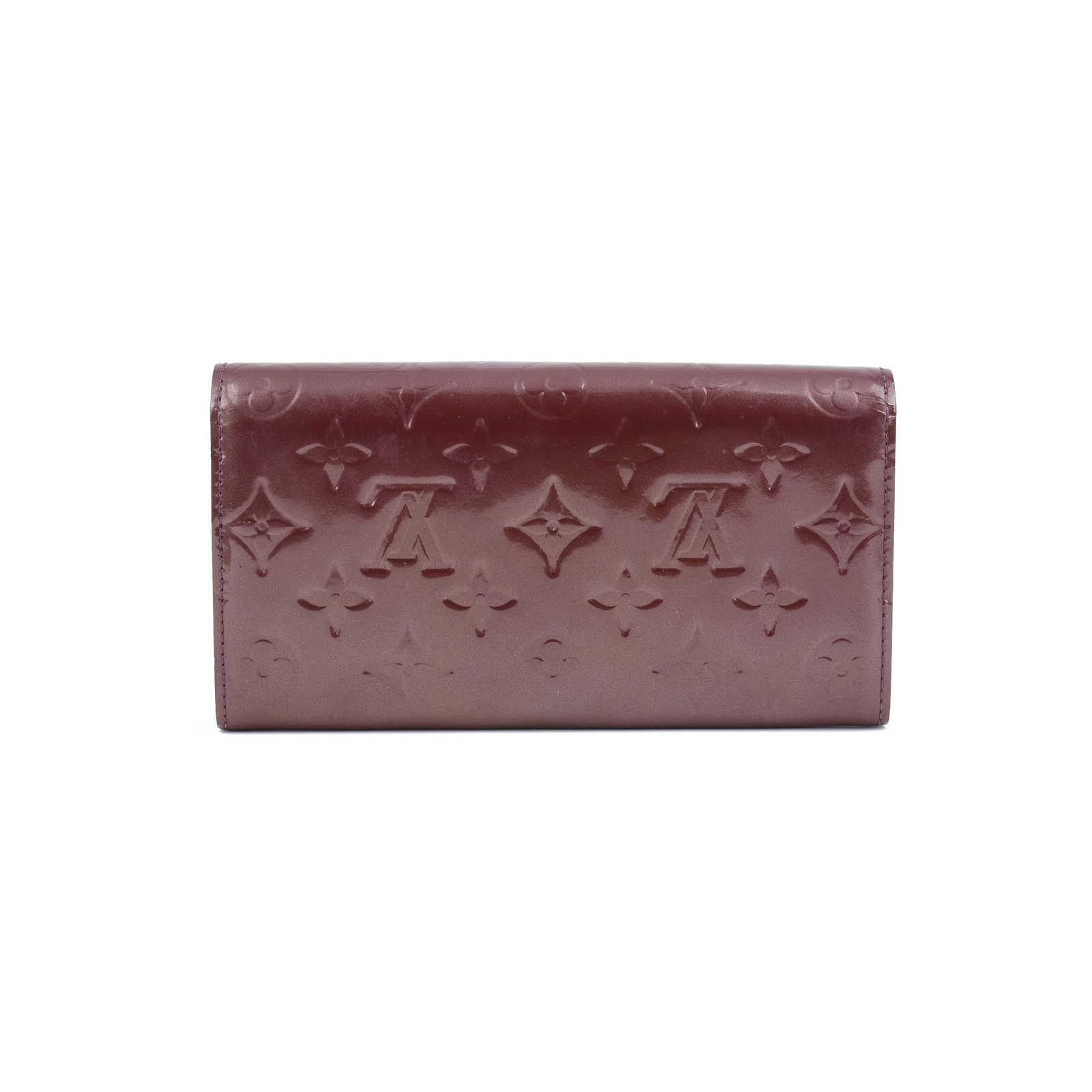 a46e7d5a9920d ... Authentic Second Hand Louis Vuitton Monogram Vernis Sarah Wallet  (PSS-420-00027) ...