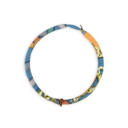 Authentic Second Hand Hermès Petit H Plissé Silk Necklace (PSS-420-00029)