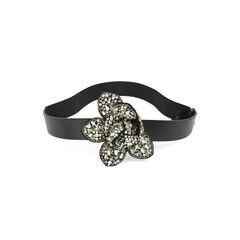 Crystal-Encrusted Flower Belt