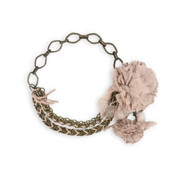 Chain Pompom Necklace