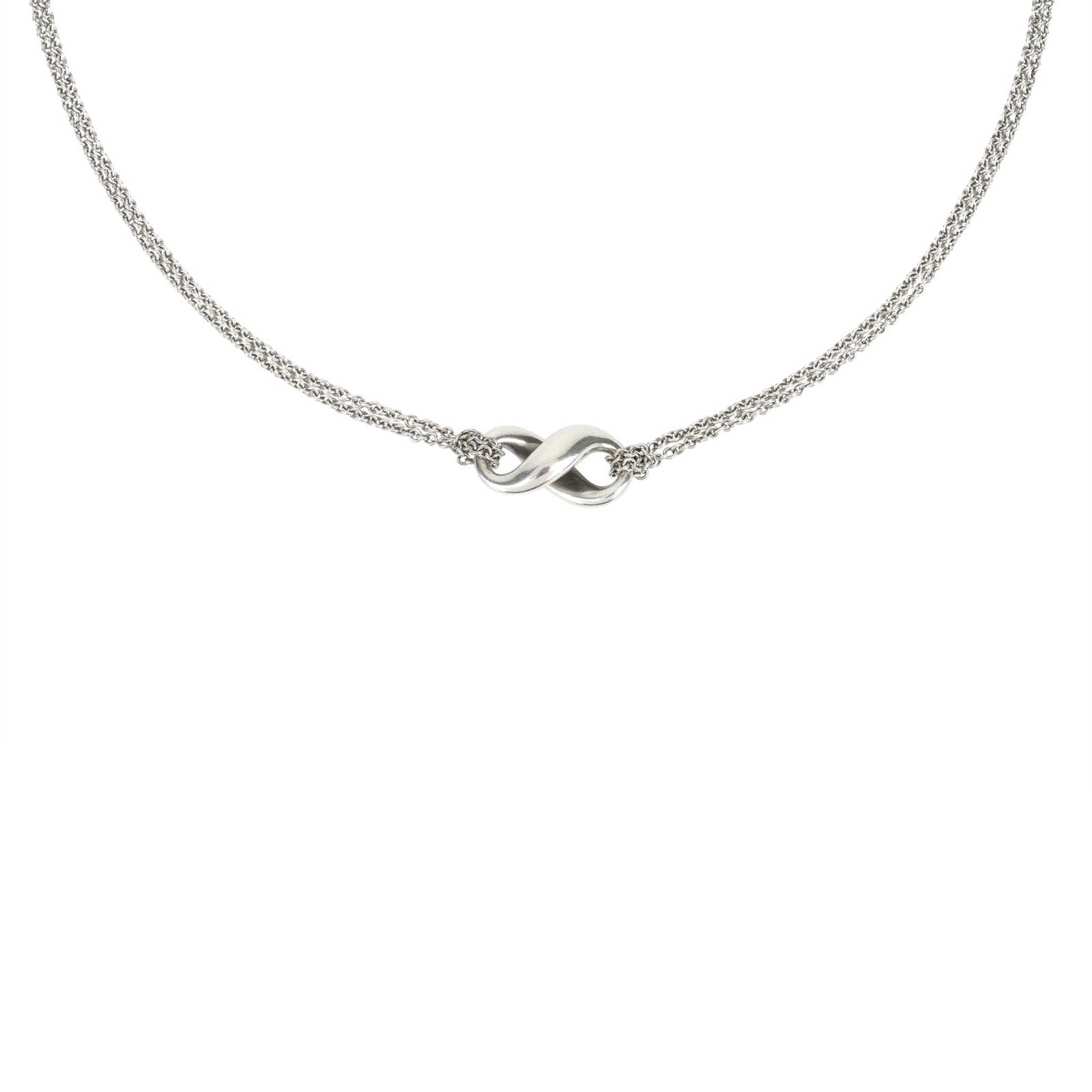 df88e2a713576 Authentic Second Hand Tiffany   Co Tiffany Infinity Necklace  (PSS-436-00012) ...