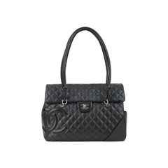 Large Quilted CC Cambon Flap Tote Bag