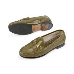 Gucci patent horsebit loafers green 2?1515126641