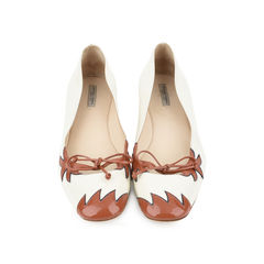 Flame-appliquéd patent-leather ballet flats
