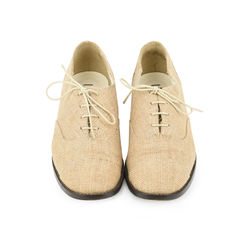 Linen Roud Toe Oxfords