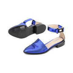 Emporio armani blue metallic sandals 2?1515127042