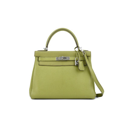 Authentic Pre Owned Hermès Vert Anis Chevre Mysore Kelly 28 (PSS-075-00081)