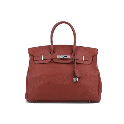 Authentic Second Hand Hermès Brique Togo Birkin 35 (PSS-075-00082)