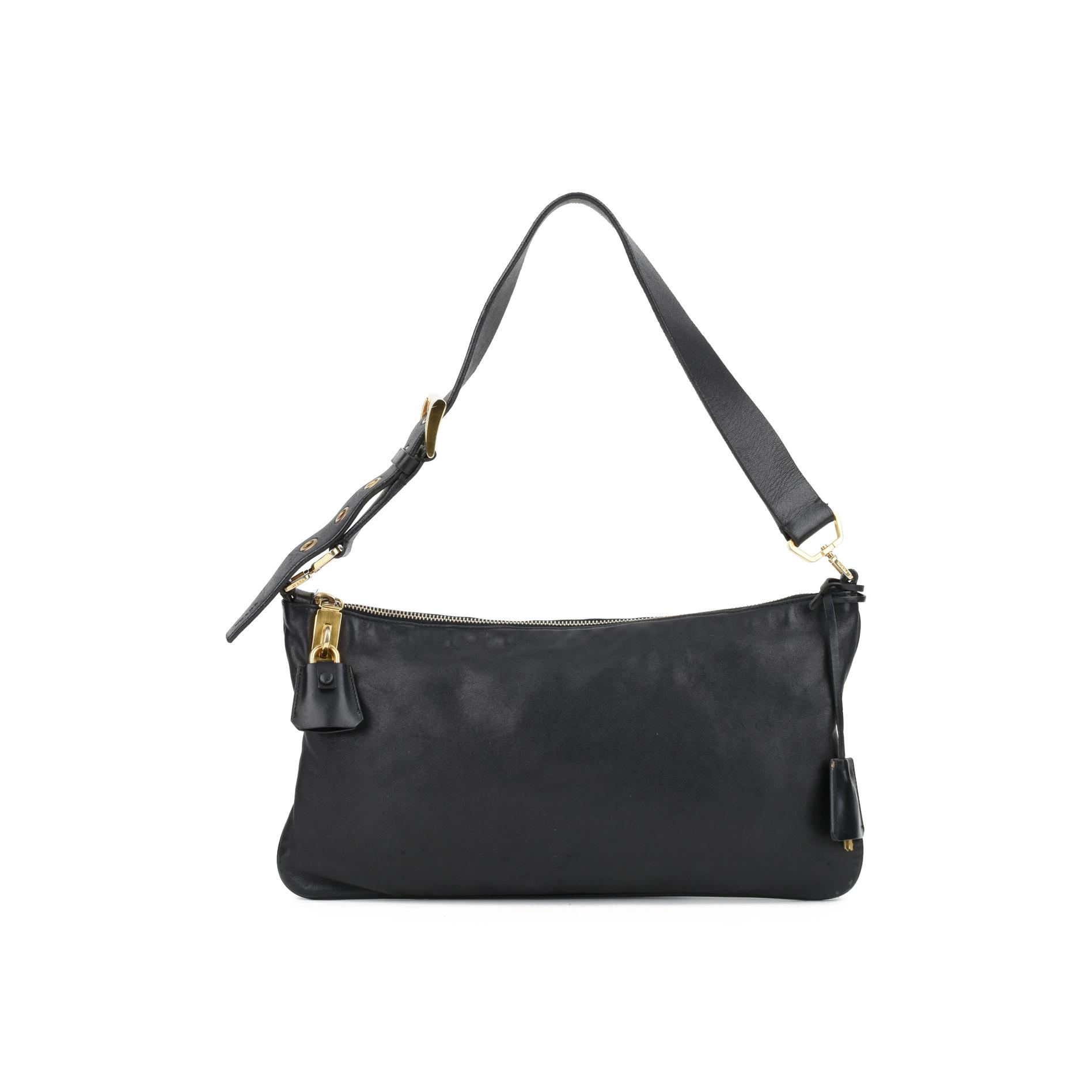 7c8e3318dc77 Authentic Second Hand Prada Lock and Key Shoulder Bag (PSS-126-00053 ...