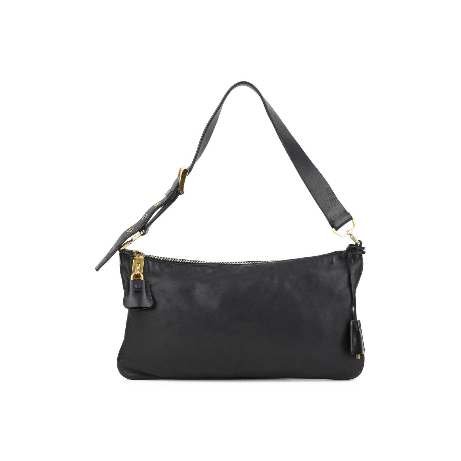3804bcc216d9 Authentic Second Hand Prada Lock and Key Shoulder Bag (PSS-126-00053) ...