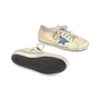 Authentic Second Hand Golden Goose Deluxe Brand V-Star 2 Distressed Leather-Paneled Metallic Canvas Sneakers (PSS-200-00930) - Thumbnail 4
