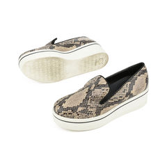 Stella mccartney python print platform loafers 2?1516001493