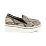 Authentic Second Hand Stella McCartney Python-Print Platform Loafers (PSS-200-00931) - Thumbnail 1