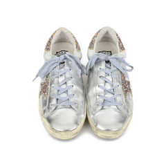Super Star Glitter Metallic Leather Sneakers