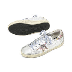 Golden goose deluxe brand super star glitter metallic leather sneakers 2?1516001593