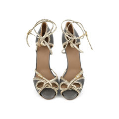 Python trim Lace Up Sandals