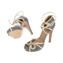 Hermes python leather trimmed sandals 2?1516001655