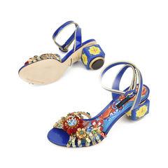 Dolce gabbana pom pom painted block heel sandals 2?1516001712