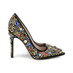 Miu miu embellished suede pumps 4?1516001766