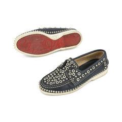 Christian louboutin metal stud slip on loafers 2?1516001868