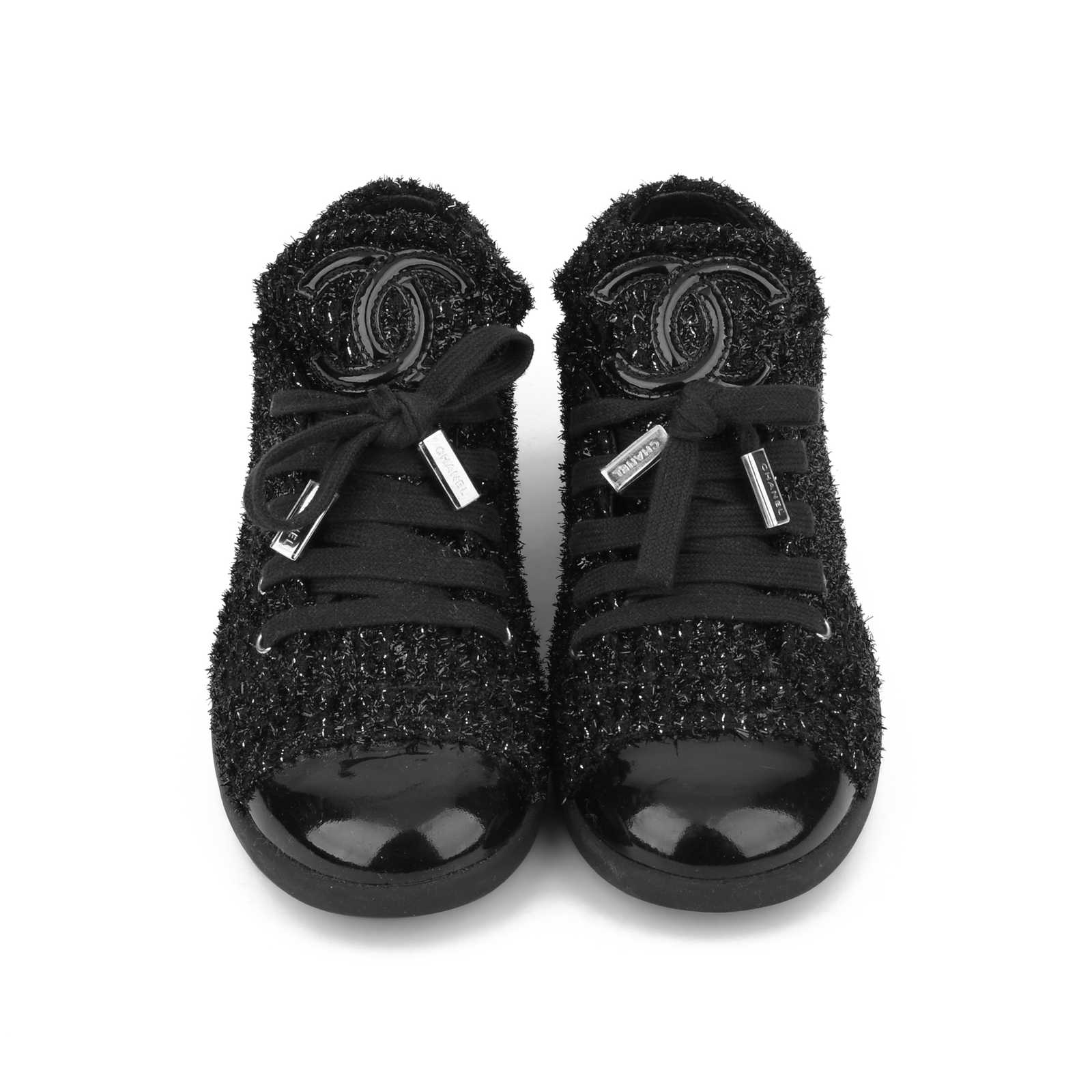 c326668cd Authentic Second Hand Chanel Tweed Cap-Toe Sneakers (PSS-200-00944) ...