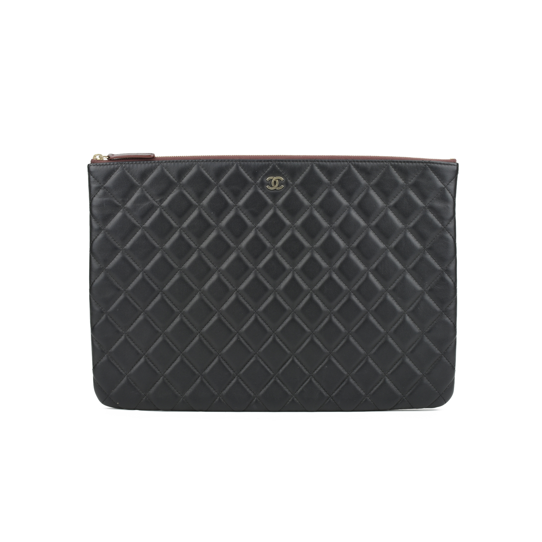 7ce49c7883 Authentic Second Hand Chanel Lambskin Quilted Pouch (PSS-051-00281) - THE  FIFTH COLLECTION