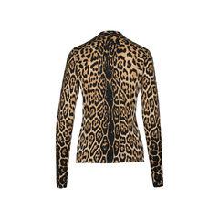 Yves saint laurent leopard printed cardigan 1?1516003843