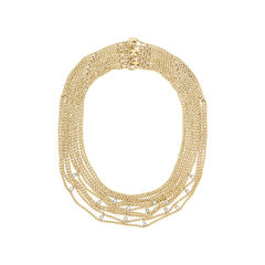 Yellow Gold and Diamonds Draperie Necklace