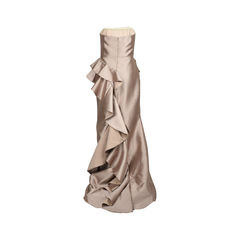 Badgley mischka strapless ruffled gown 2?1516007917