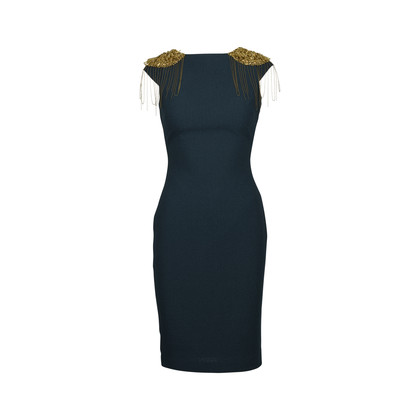 Authentic Second Hand Badgley Mischka Embellished Cap Sleeve Cocktail Dress (PSS-415-00024)