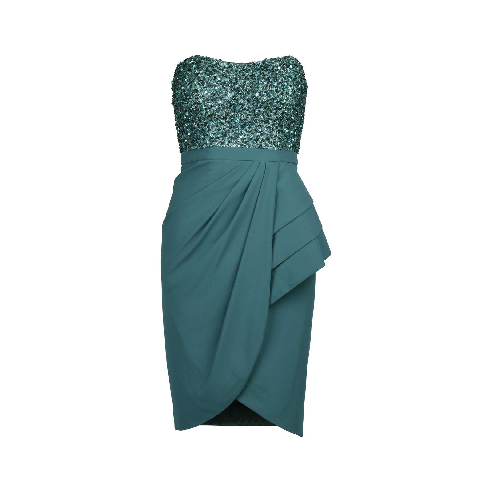 0e8a876ce02 Authentic Second Hand Badgley Mischka Sequin Strapless Cocktail Dress  (PSS-415-00036) ...