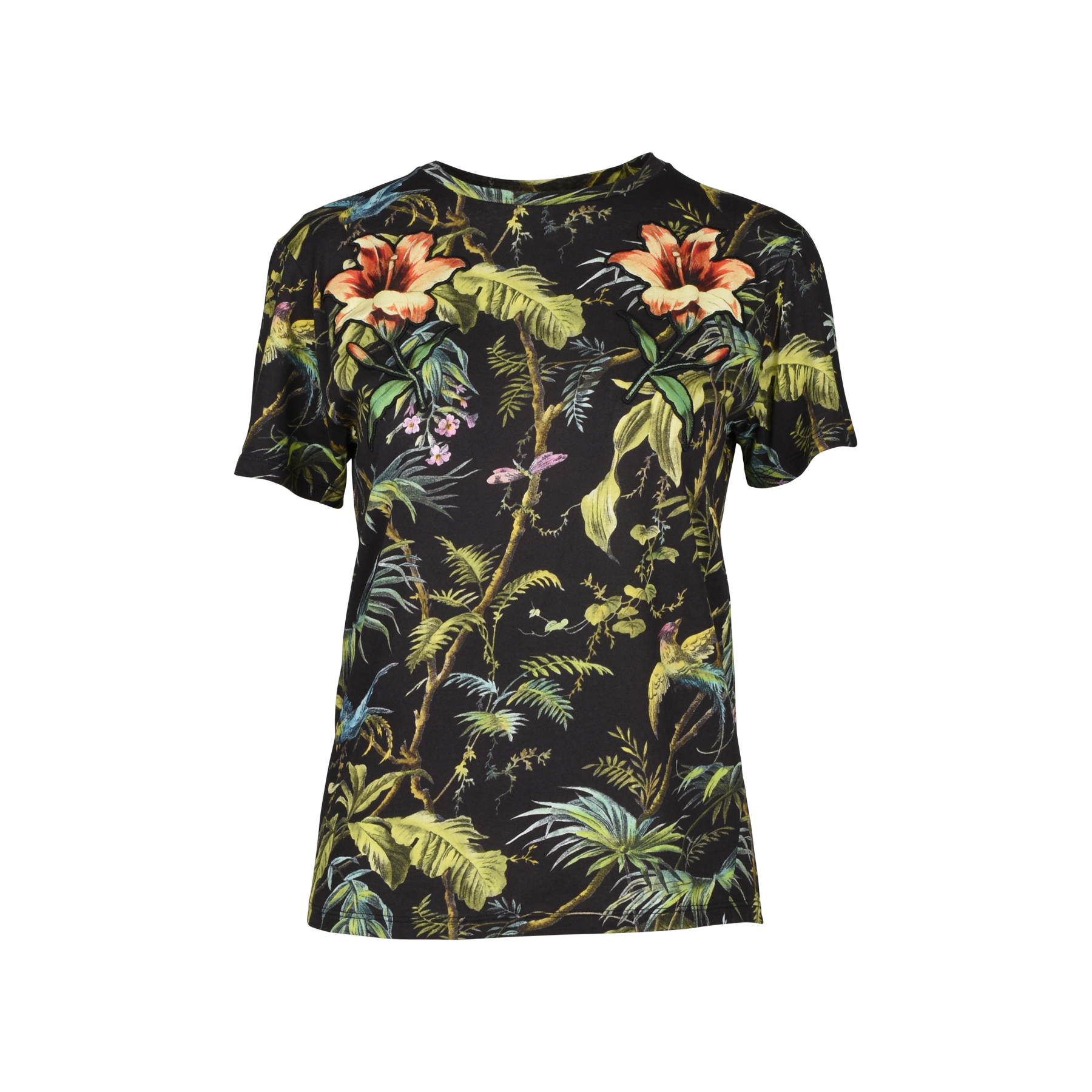 7af1a8304861 Authentic Second Hand Gucci Tropical Print Jersey T-Shirt (PSS-051-00306) - THE  FIFTH COLLECTION