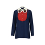 Authentic Second Hand Gucci Silk Embroidered Ruffle Blouse (PSS-051-00302) - Thumbnail 0