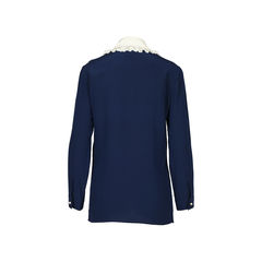 Gucci silk embroidered ruffle blouse 2?1516078767