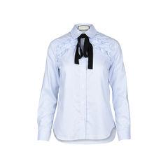 Grosgrain Tie Oxford Striped Shirt