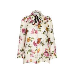 Rose Print Chiffon Shirt